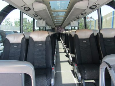 Luxury 50-57 seater luxury Delux Lux charter coach bus with toilet. interior picture