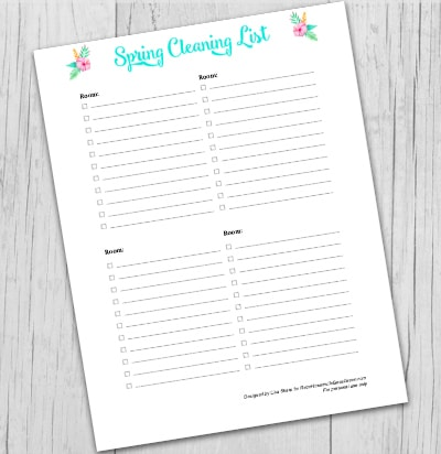photo about Cleaning List Printable referred to as Absolutely free Spring Cleansing Printable List - Retro Housewife