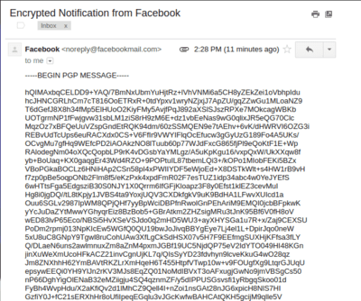 Facebook PGP key