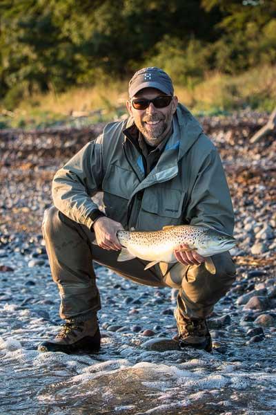 Jesper Vang Møller med 3-kilosfisk