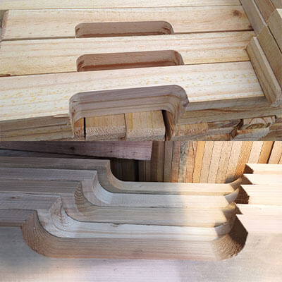 notched pallet stringers