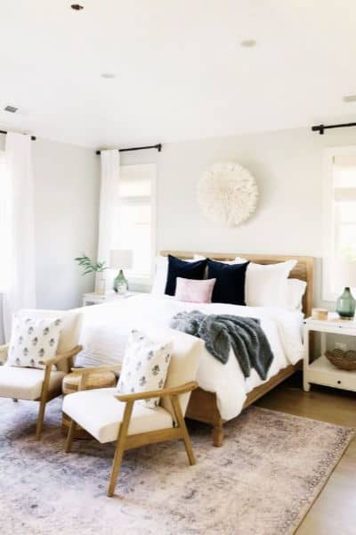 Cozy Relaxed Minimalist Master Bedroom