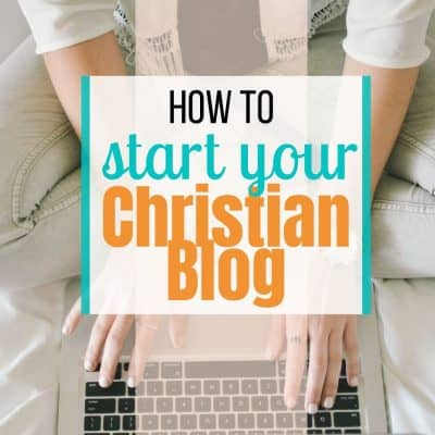 how to start a christian blog