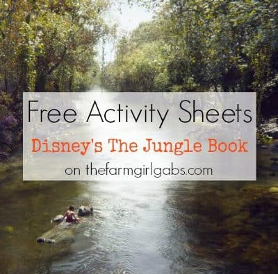 Disney's Jungle Book Activity Sheets