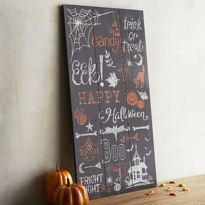 Happy Halloween Chalkboard Art