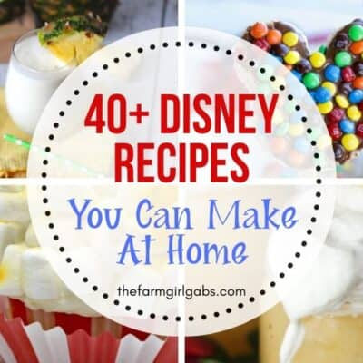 Missing the magic of Disney World? Try one of these 40 Disney recipes to make your day a little more magical. These recipes are the next best thing to spending time at the parks.