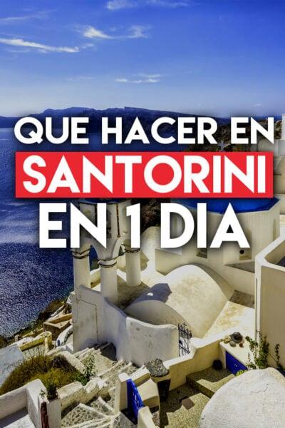 Que hacer en Santorini en 1 dia