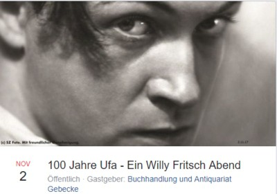Lesung Willy Fritsch Quedlinburg 100 Jahre Ufa