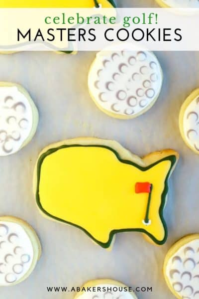 Pinterest image for Masters golf cookies