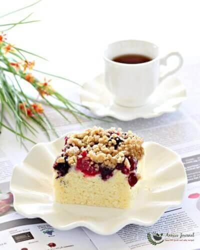 Berries Streusel cake 梅果蛋糕