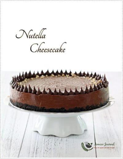 Easy Nutella Cheesecake 简易榛子酱乳酪蛋糕