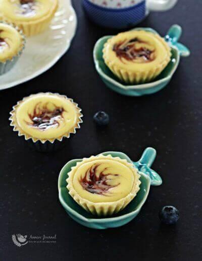 Blueberry Cheese Tartlets 蓝莓芝士小挞