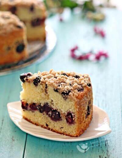Blueberry Crumble Cake 蓝莓奶酥蛋糕