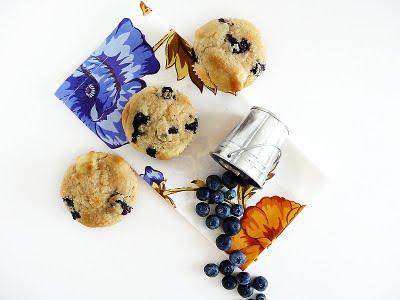 Bluberries and Cream Muffin