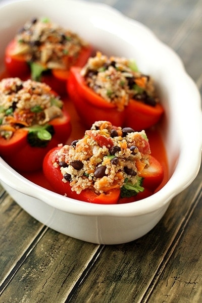 Vegetarian Quinoa Stuffed Bell Peppers