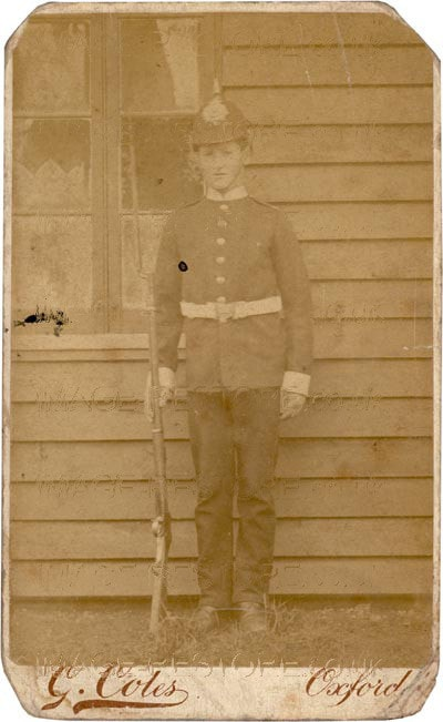 Old photo of a soldier