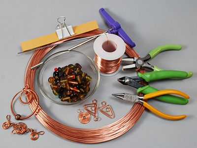 wire-bent copper jewelry