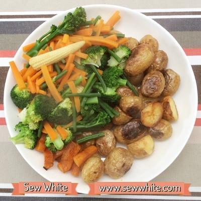 Sainsbury's So Organic roast dinner 5