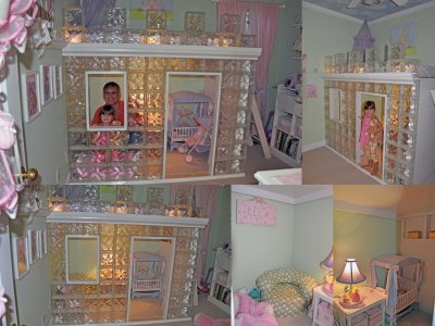 Ice Castle playhouse and bunkbed,