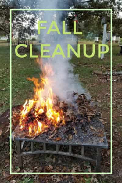 burning leaves for compost pile