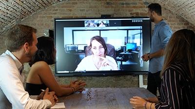 webcam visio écran tactile