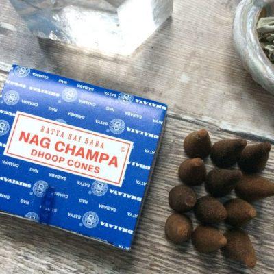 Spiral Crystals - Nag Champa Cones