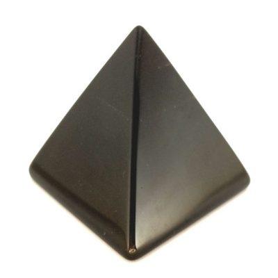 Spiral Crystals Obsidian Pyramid Large