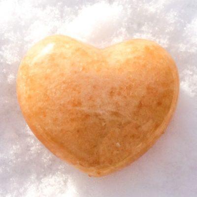 Spiral Crystals UK - Orange Calcite Heart