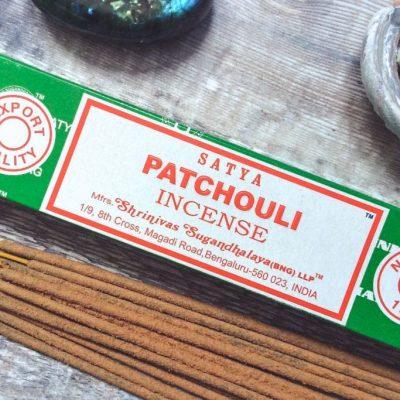 Spiral Crystals - Satya Patchouli Incense