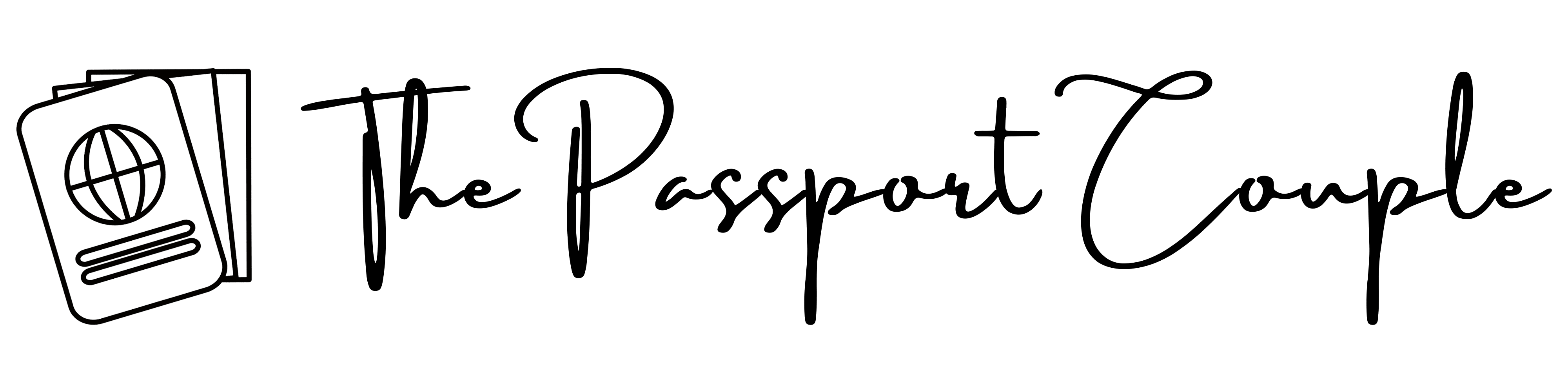 The Passport Couple Logo-Black
