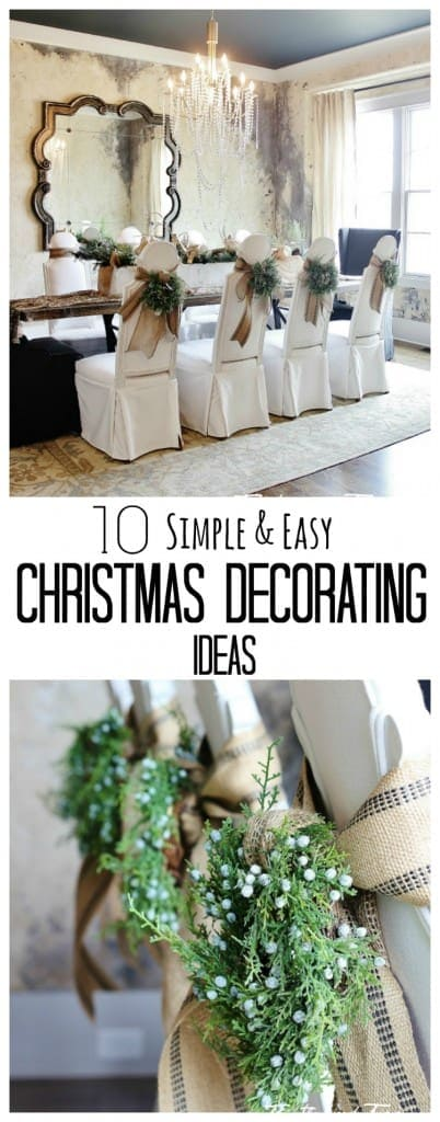 10 simple and easy Christmas Decorating Ideas