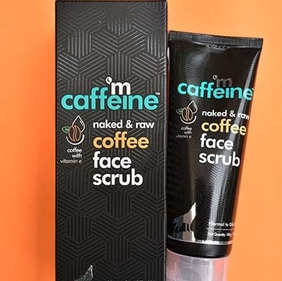 mCaffeine naked and raw coffee face scrub review