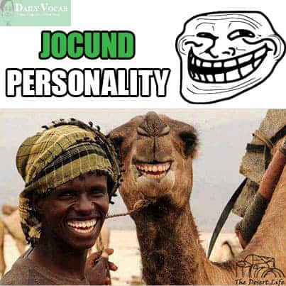 Jocund meaning