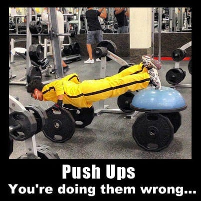 Push Ups - You're doing them wrong!