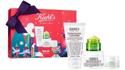 Kiehl's Uttra Skin Lovers facial cleanser set | 40plusstyle.com