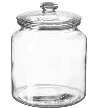 Glass storage jar IKEA