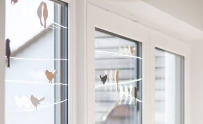 Vogel Fensterdeko DIY