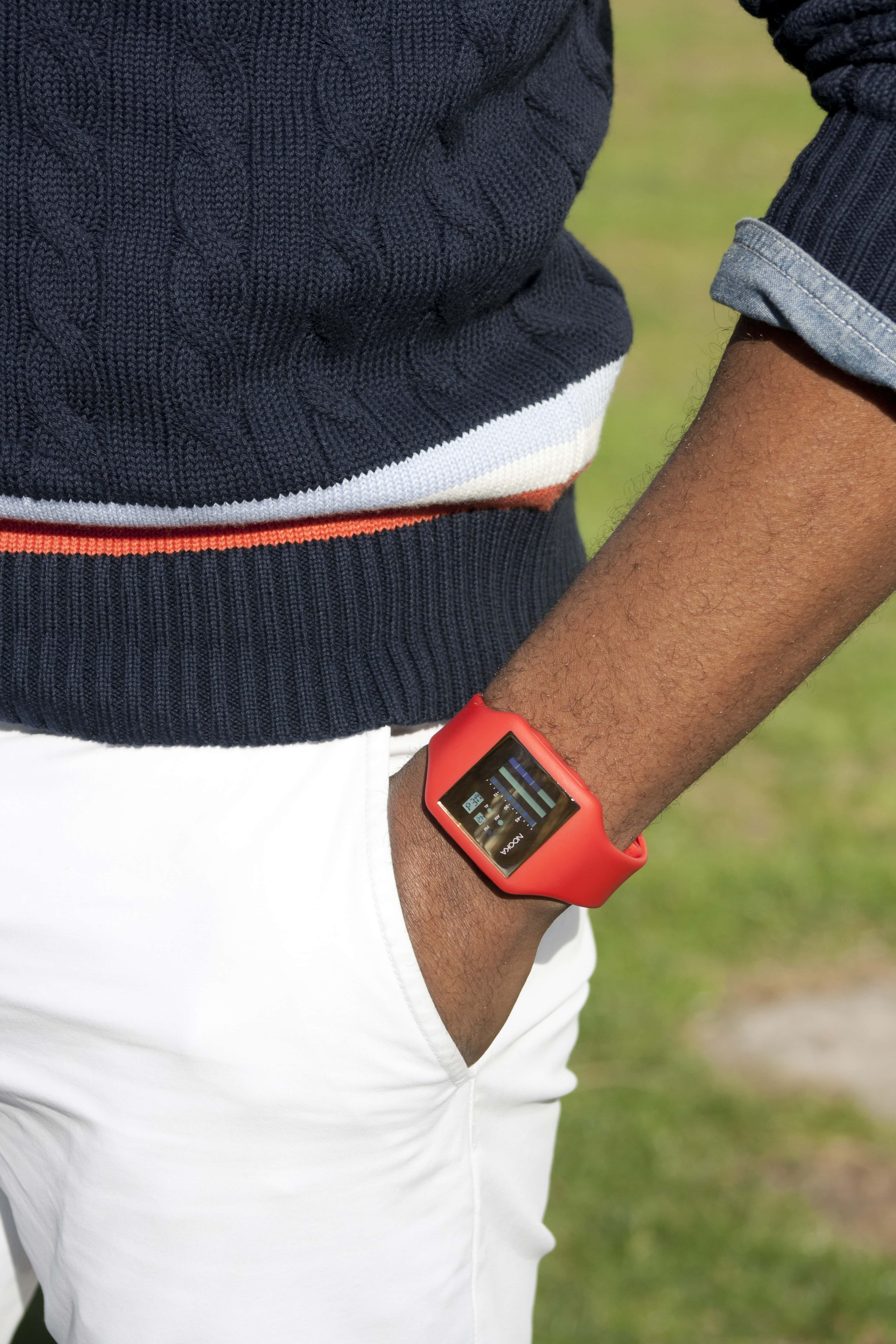 Sabir in Uniqlo Cricket Sweater with Nooka Watch