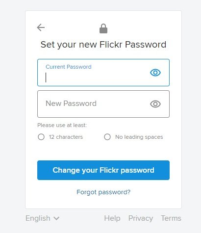 How to change your password on Flickr 5