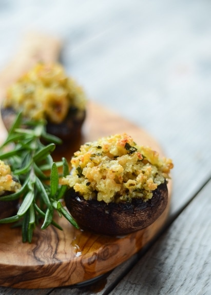 Shrimp Stuffed Portobello Mushrooms is a super easy, scrumptious appetizer that's sure to impress your guests.