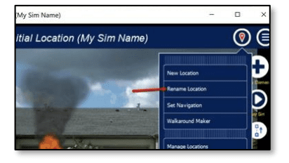 Editing location name for fire simulation