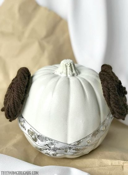 The Force is strong with this DIY Star Wars Princess Leia Pumpkin. Turn to the light side this Halloween. This pumpkin is perfect for the ultimate Star Wars fan!