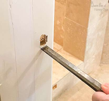 chiseling door strike