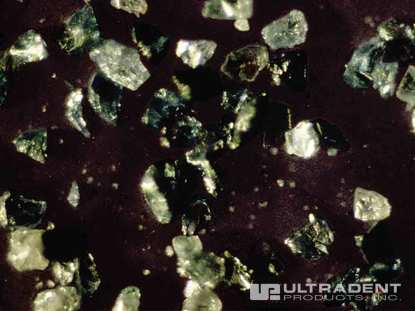 Silicon carbide microparticles contained in Opalustre abrasion slurry. (Photo courtesy of Dr. Renato Herman Sundfeld)