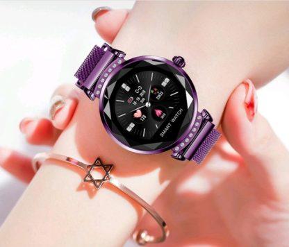 fioletowy smartwatch damski