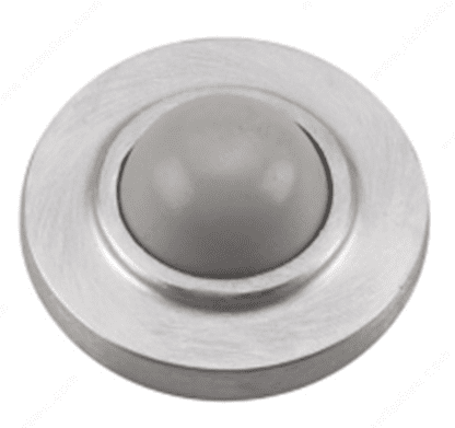 Door Knob Bumper, Dull Chrome