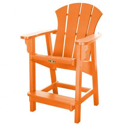 Sunrise Counter Height Chair- Orange