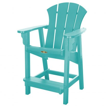 Sunrise Counter Height Chair- Turquoise