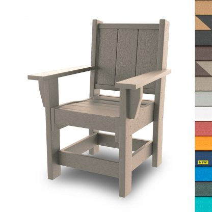 Refined Dining Chair with Arms - HHDCA1-K - with Navy