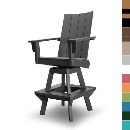 Hatteras - Swivel Bar Height Chair - Multiple Colors - HHHDCSW1